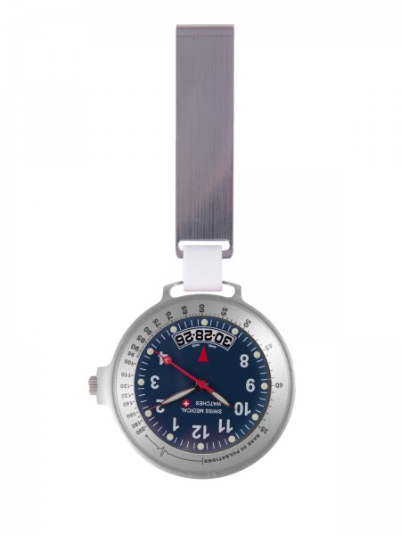 Reloj Swiss Medical Care Line Plateado / Azul Edición Limitada