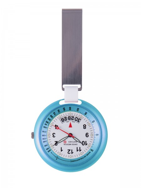 Swiss Medical Fob Watch Lightblue