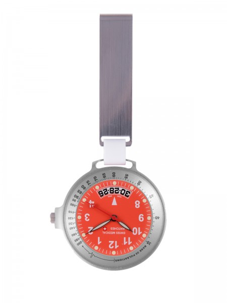 Reloj Swiss Medical Care Line Plateado / Rojo Edición Limitada