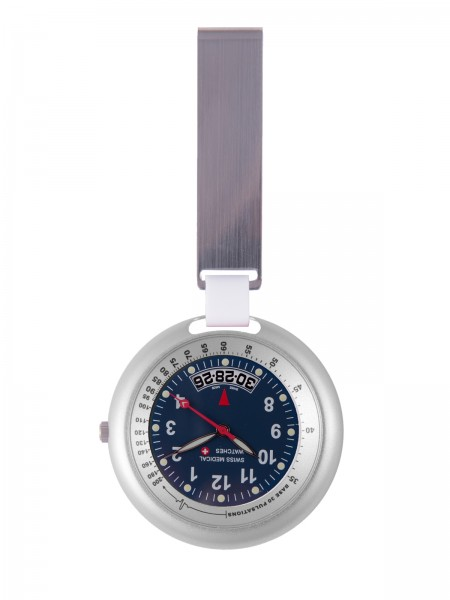 Reloj Swiss Medical Professional Line Plateado / Azul
